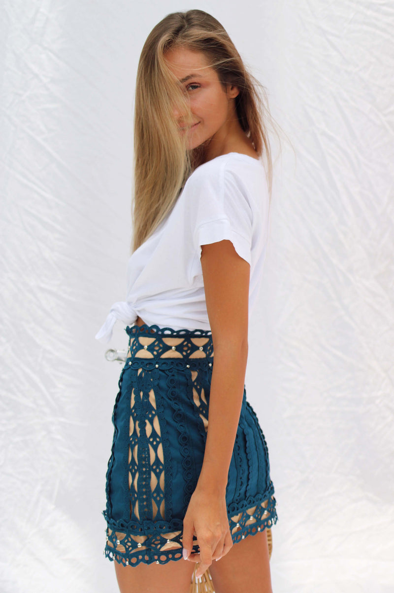 AYA SKIRT IN BLUE | Women's Online Shopping | CHICLEFRIQUE  (2143270436953)
