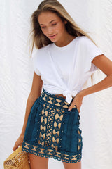AYA SKIRT IN BLUE | Women's Online Shopping | CHICLEFRIQUE