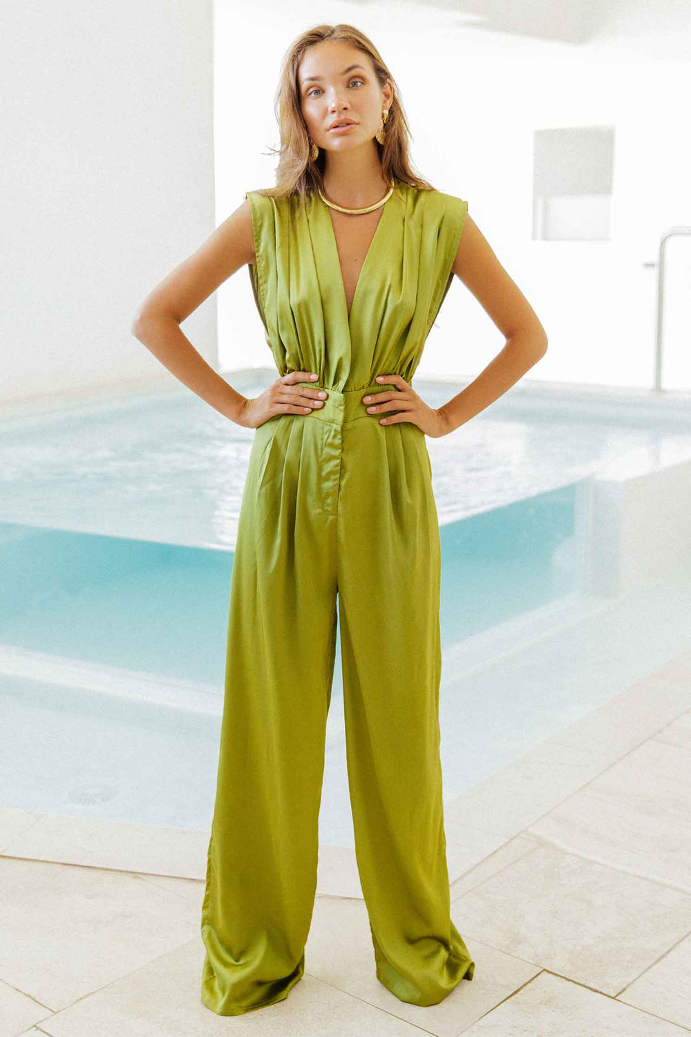 SELUNE JUMPSUIT - GREEN (4723546030169)