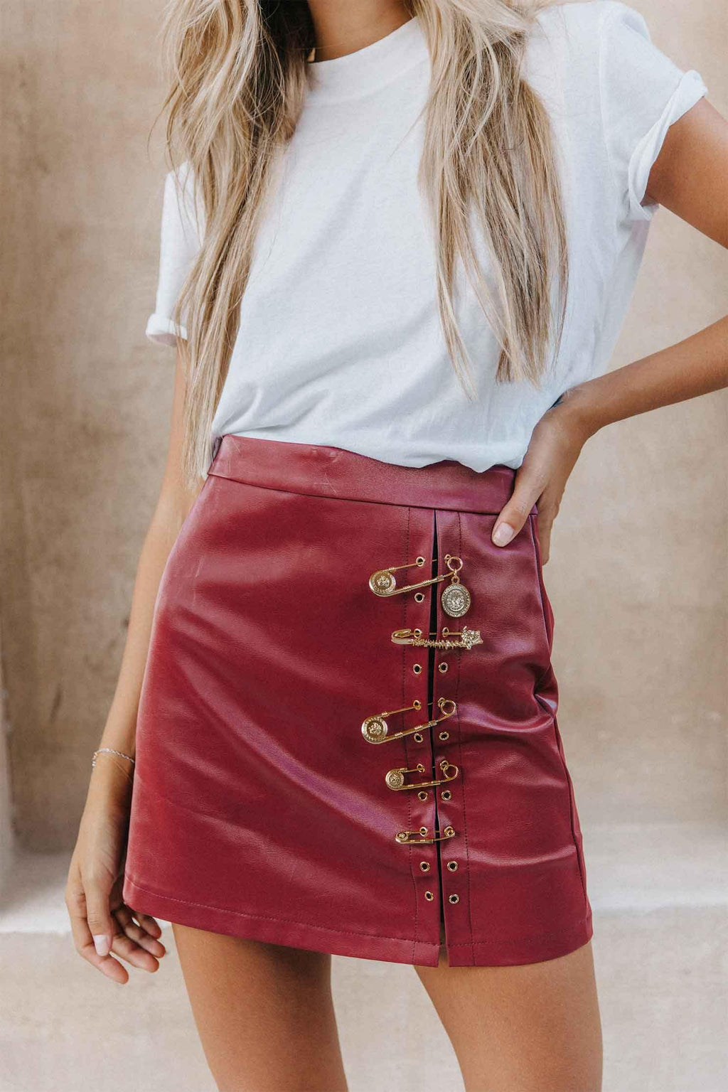 KARLA SKIRT IN RED (4393939861593)