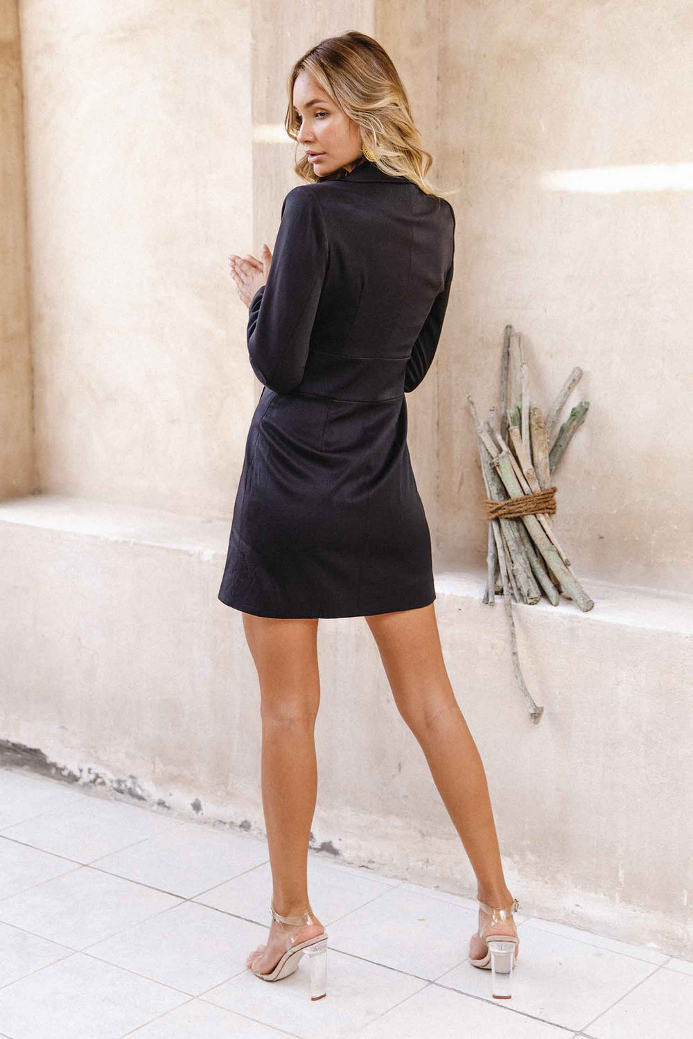BALIA BLAZER DRESS - BLACK (6077749002418)