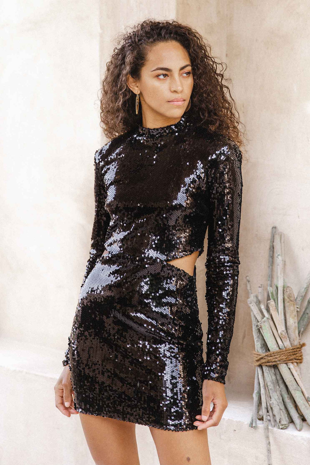 LATE NIGHT DRESS - BLACK (6045306159282)