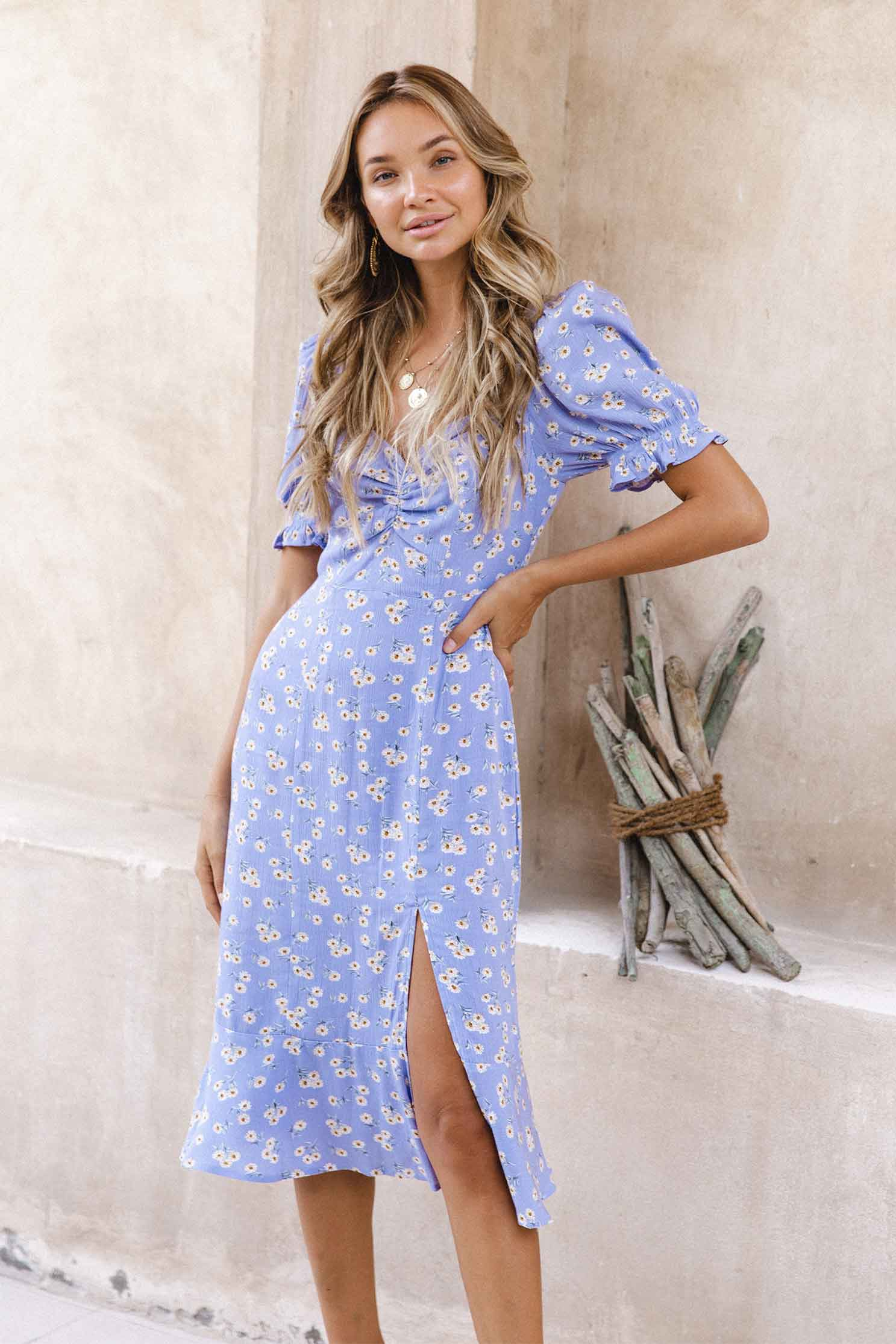 SAMANTHA DRESS - LILAC FLORAL (6073356976306)