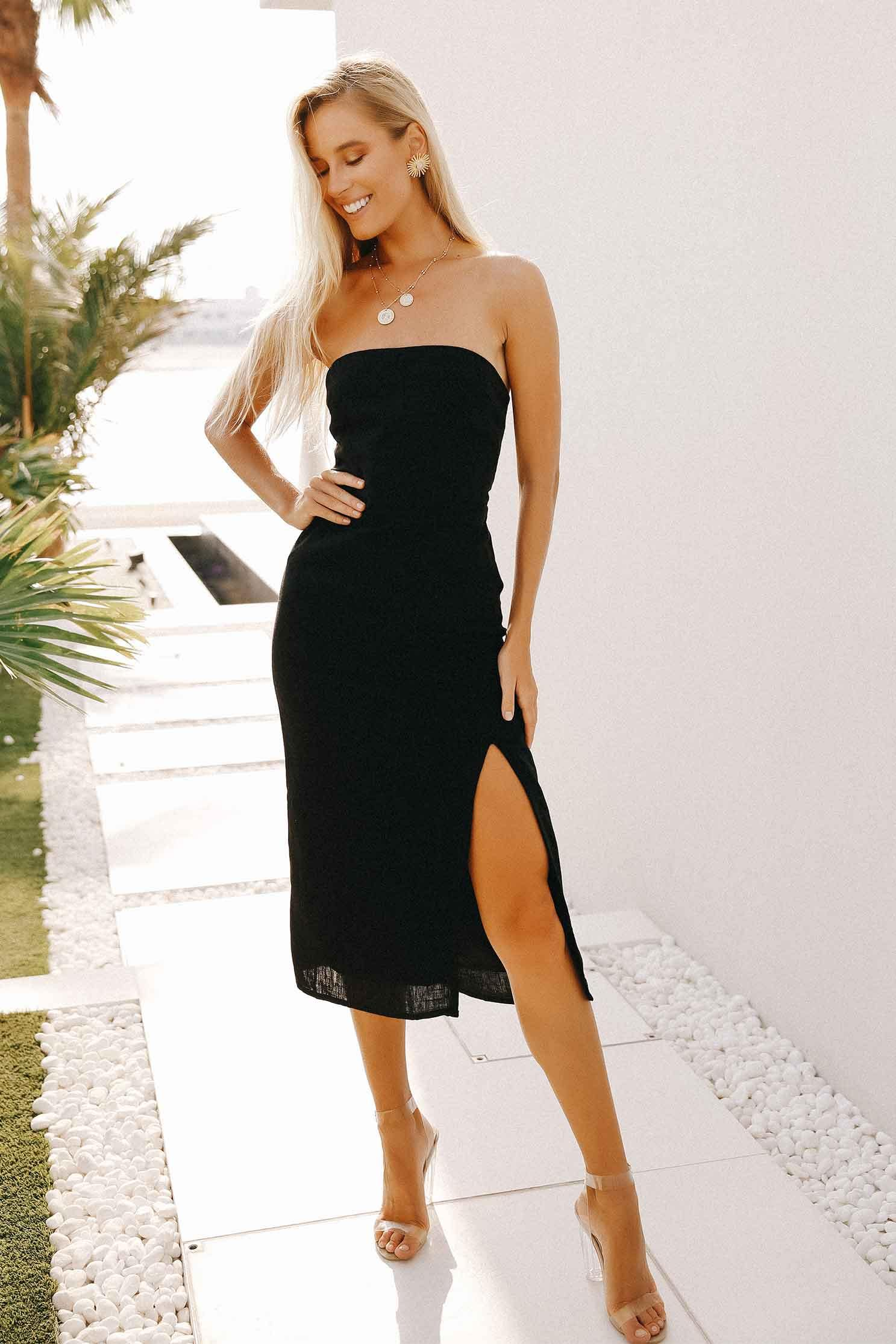SERENA DRESS - BLACK (4646769918041)