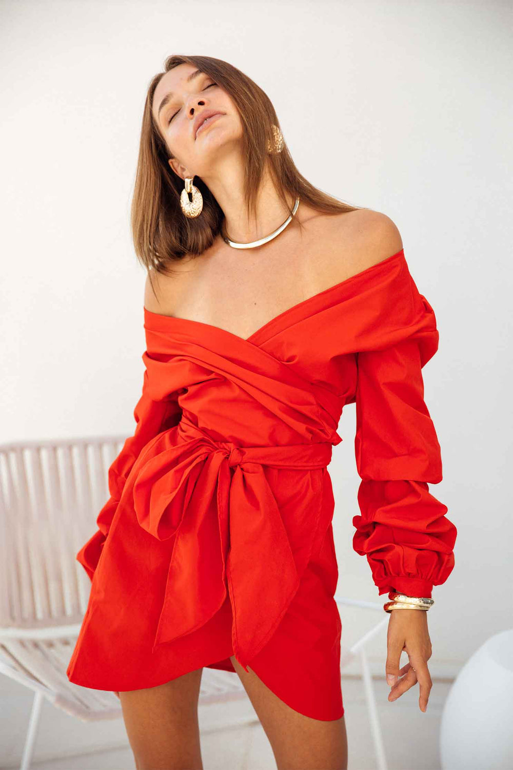 MIA OFF SHOULDER DRESS IN RED (1965854294105)