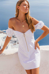 JESSIKA MINI DRESS - WHITE | Women's Online Shopping | CHICLEFRIQUE