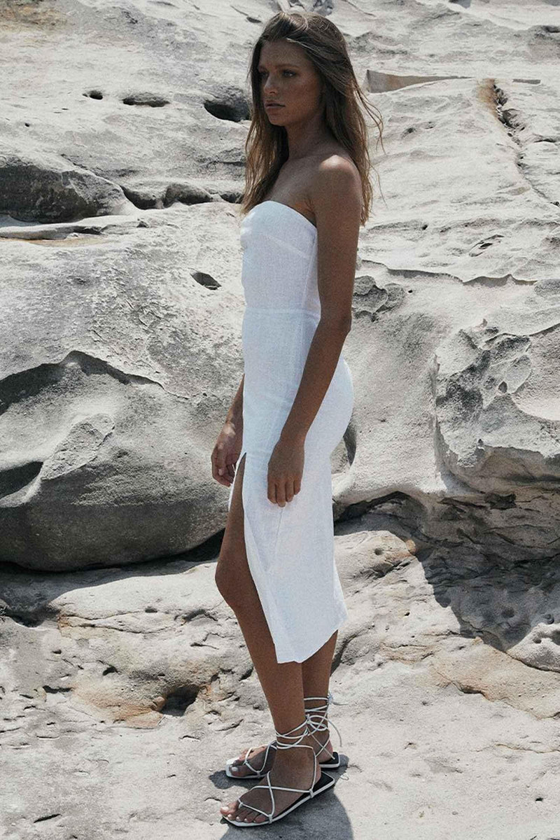 SERENA DRESS - WHITE (4646769360985)