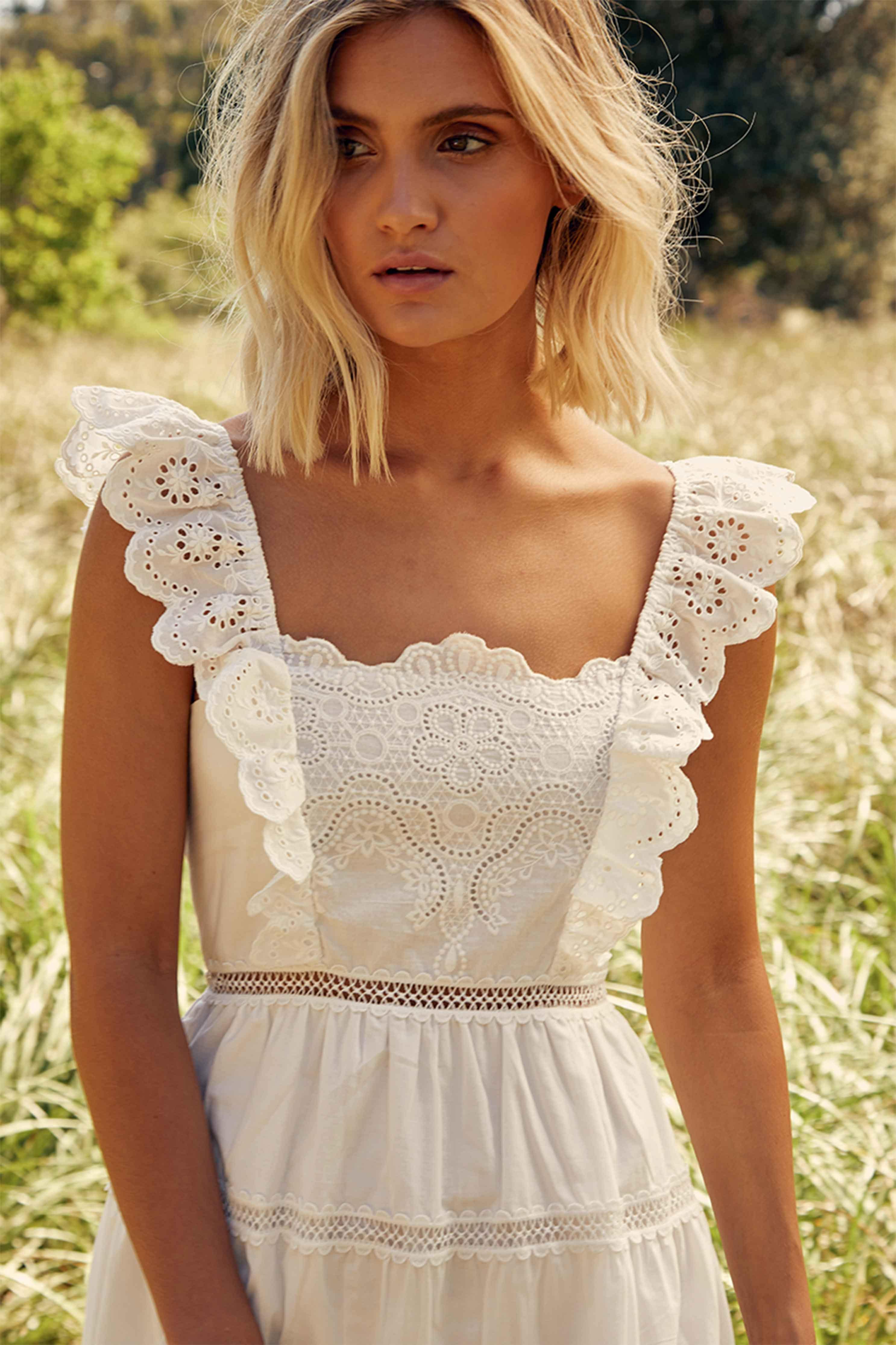 MADELINE DRESS - IVORY | Women's Online Shopping | CHICLEFRIQUE