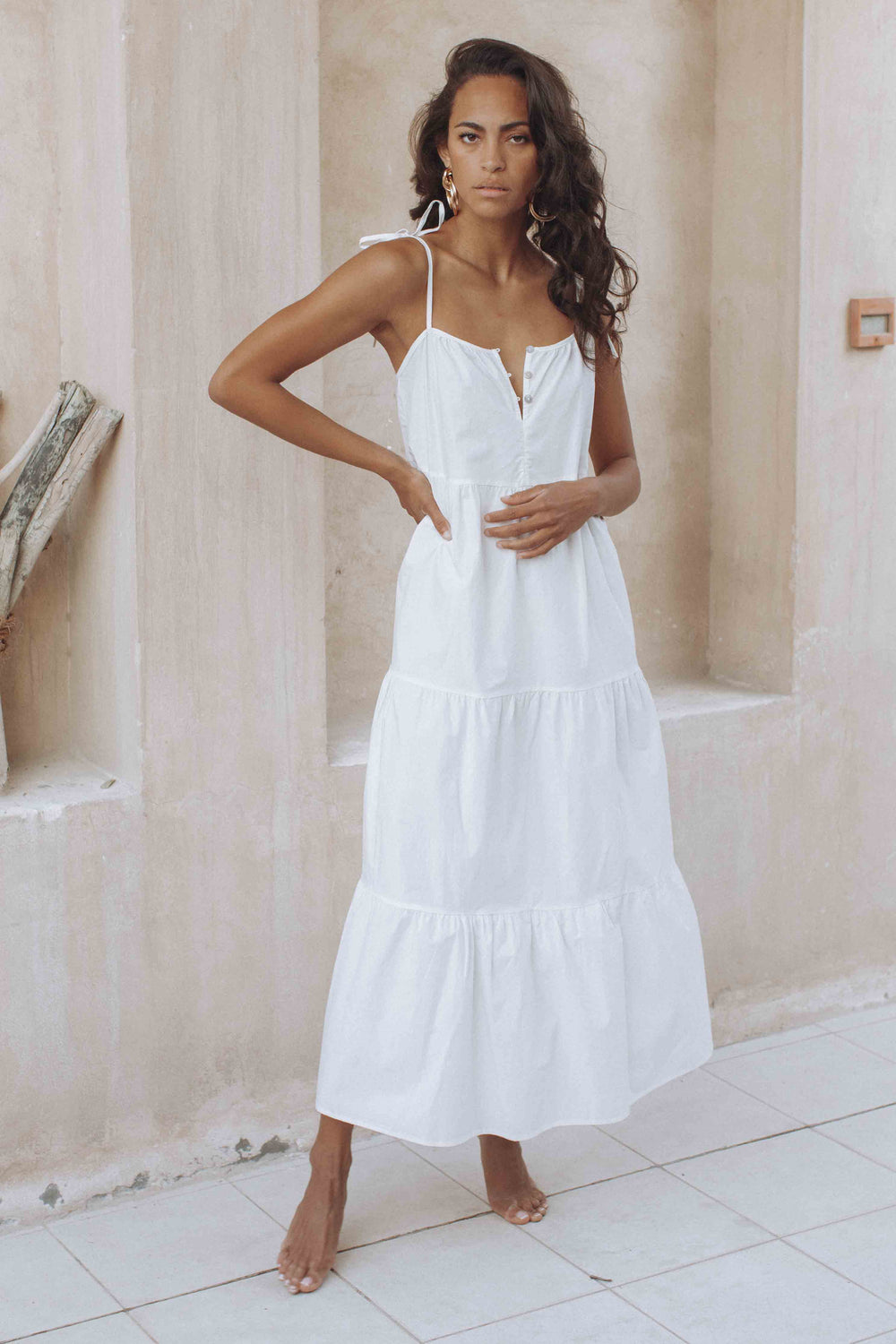 ST TROPEZ MAXI DRESS - WHITE (6107819606194)