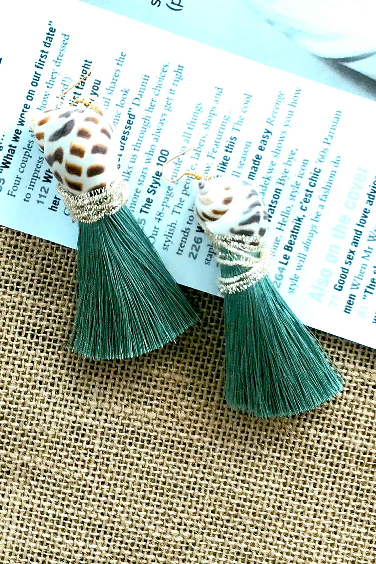 SHELL TURQUOISE EARRINGS (4725010104409)
