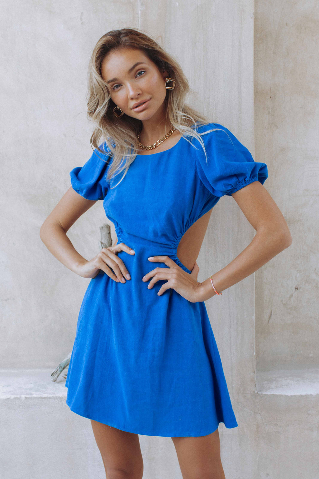 HAYLEE DRESS - BLUE (6185168994482)