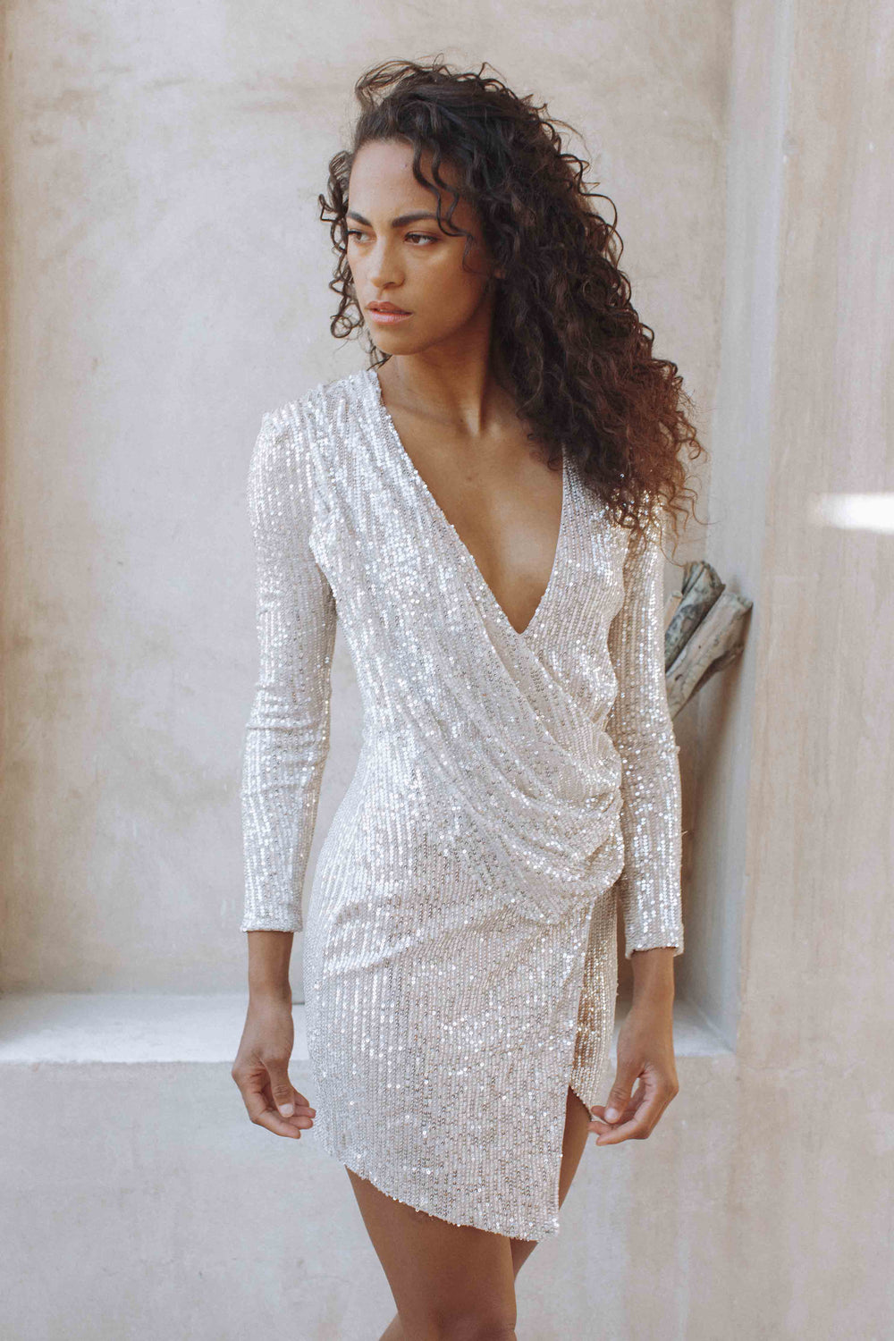 LEIGH SEQUIN DRESS - SILVER (6132966195378)