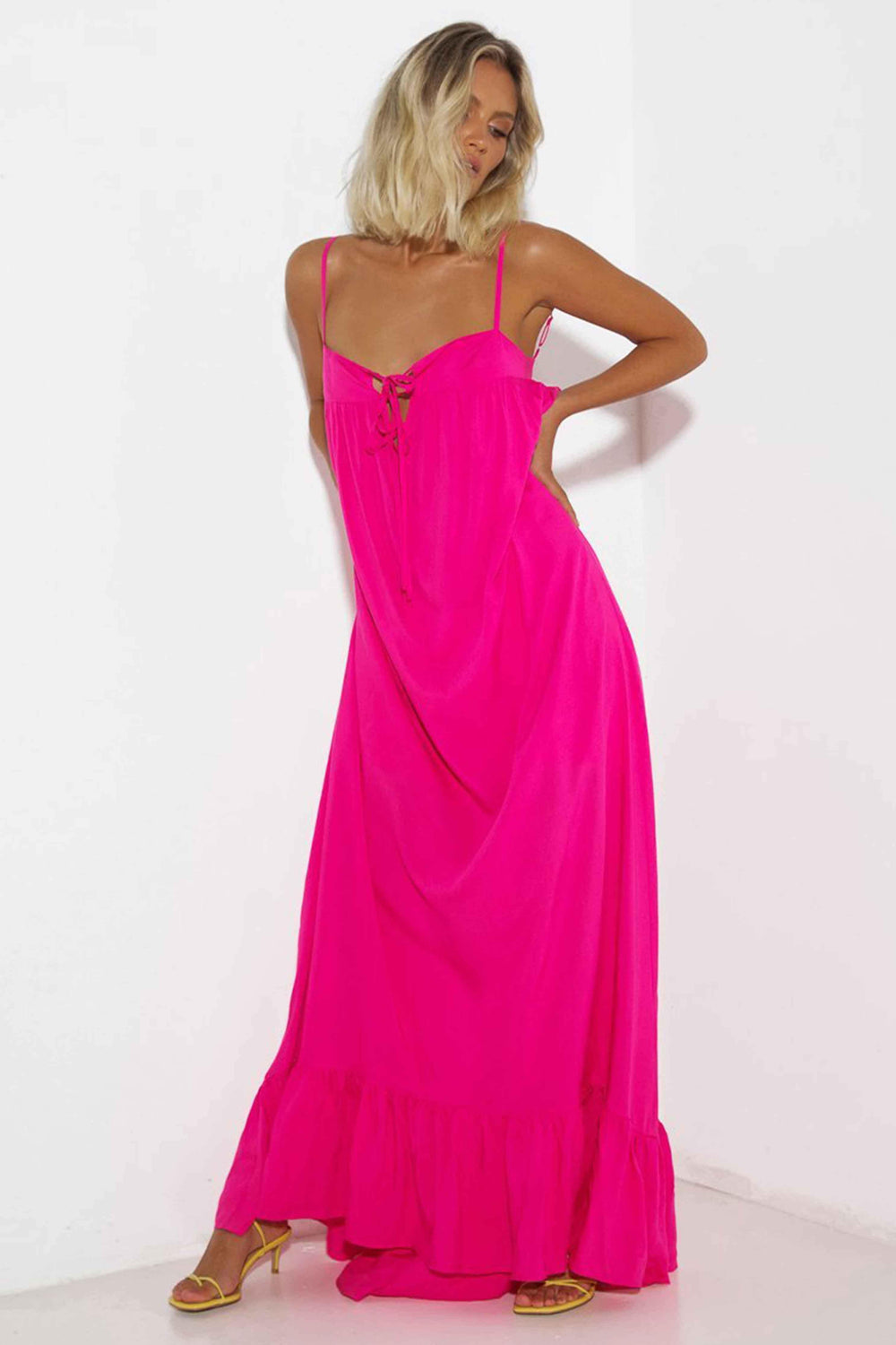 CASSIE DRESS - FUCHSIA (4646770671705)