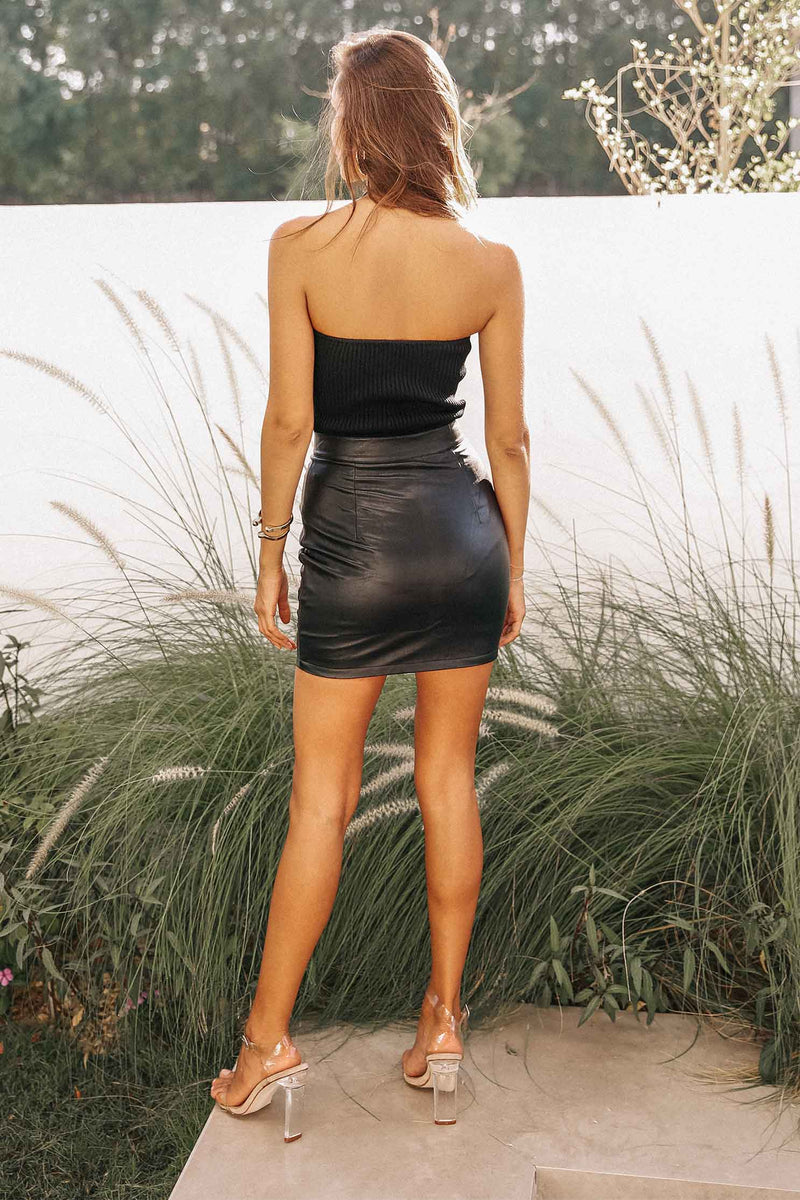 CARTIA MINI SKIRT - BLACK (5971216892082)