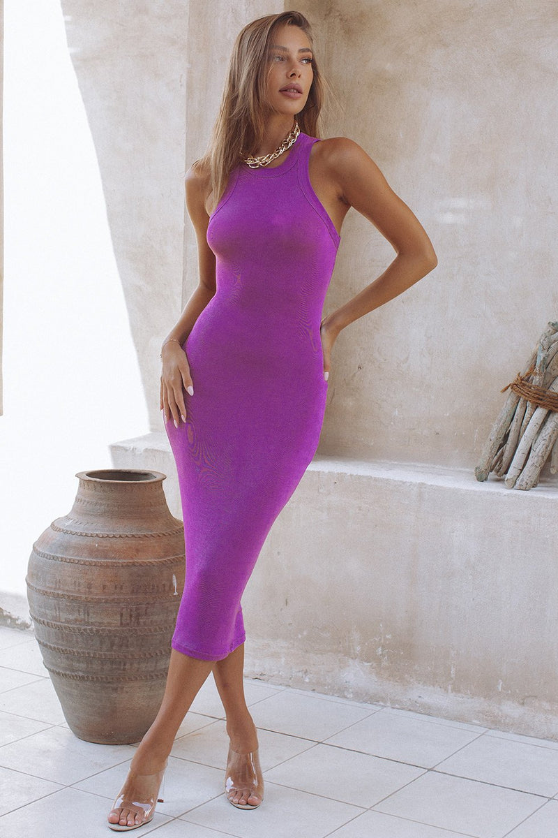 ON DEMAND DRESS - GRAPE (6574546223282)