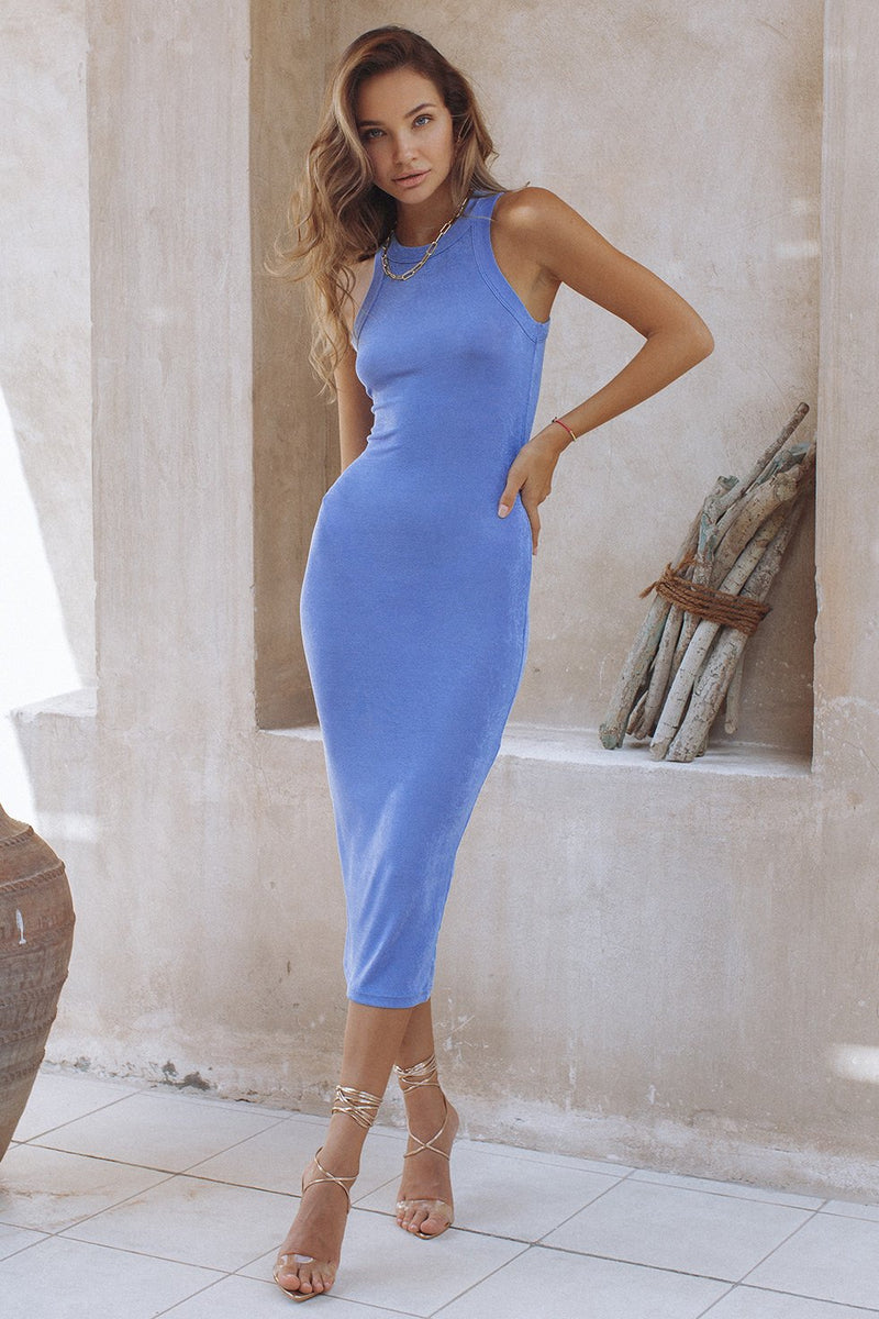 ON DEMAND DRESS - PERIWINKLE (6574545338546)