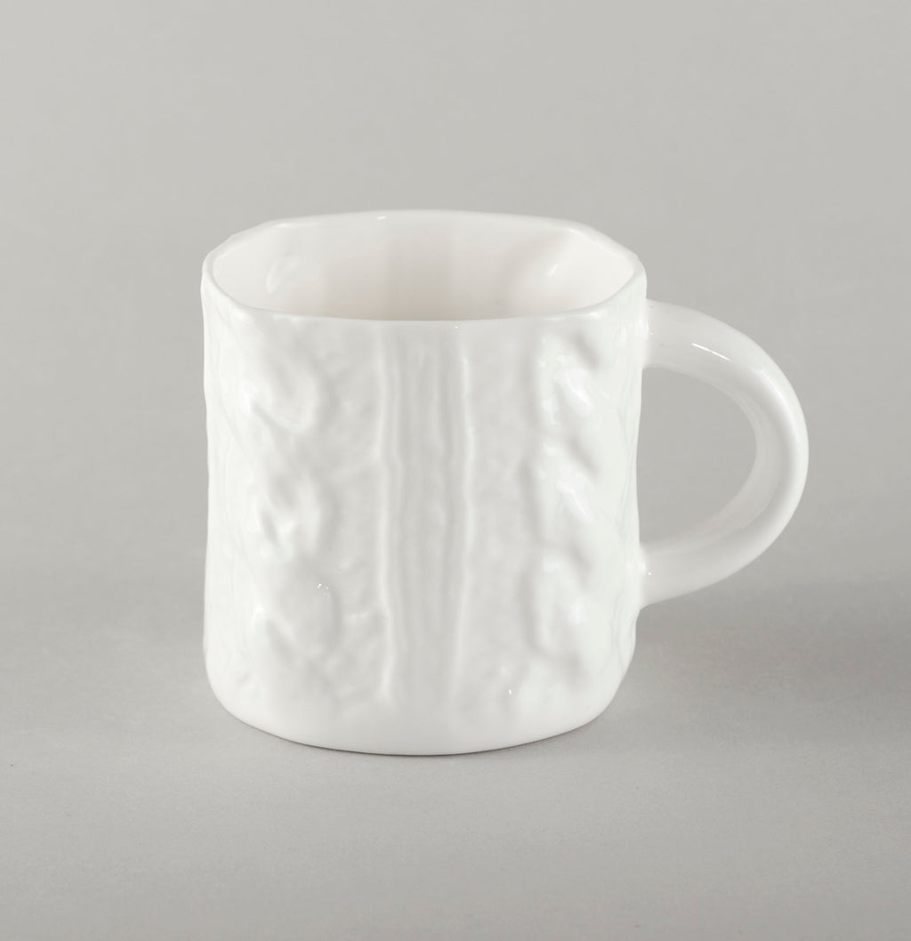 Porcelain Knitted Coffee Mug