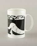 The Girl Who Knew How To Keep Her Mouth Shut. Medium Mug