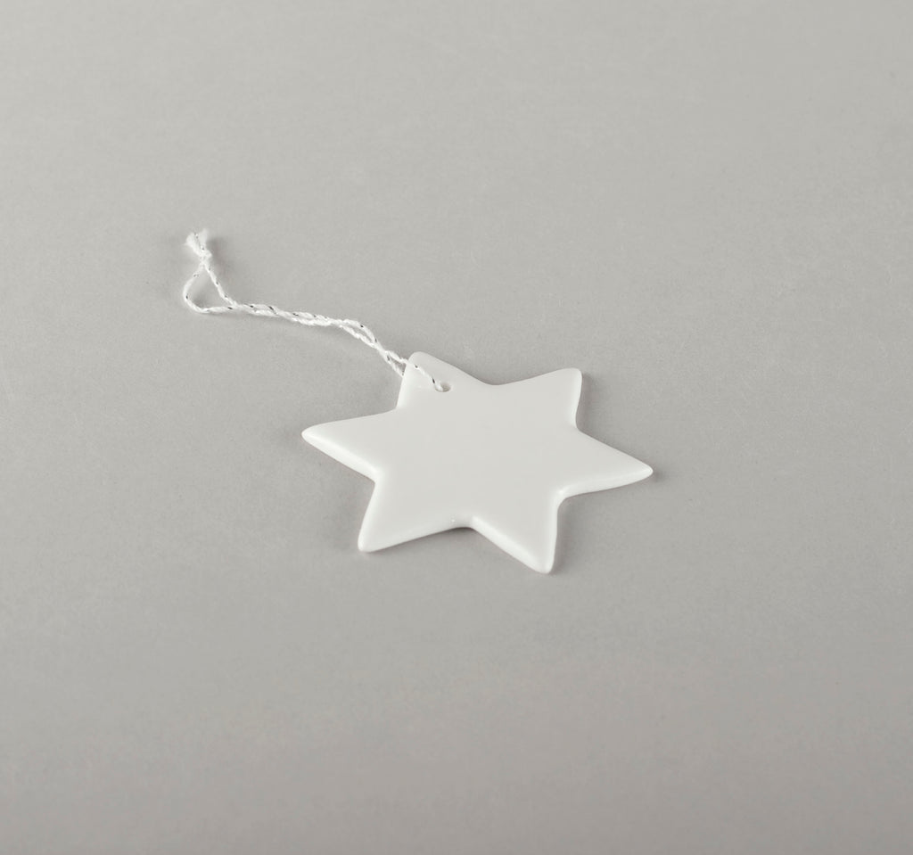 Porcelain Decorations For Christmas Trees - Star