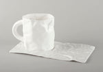 Porcelain Crumpled Coffee Mug Base (mug not included)