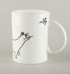 Cat with a bird. Large Mug