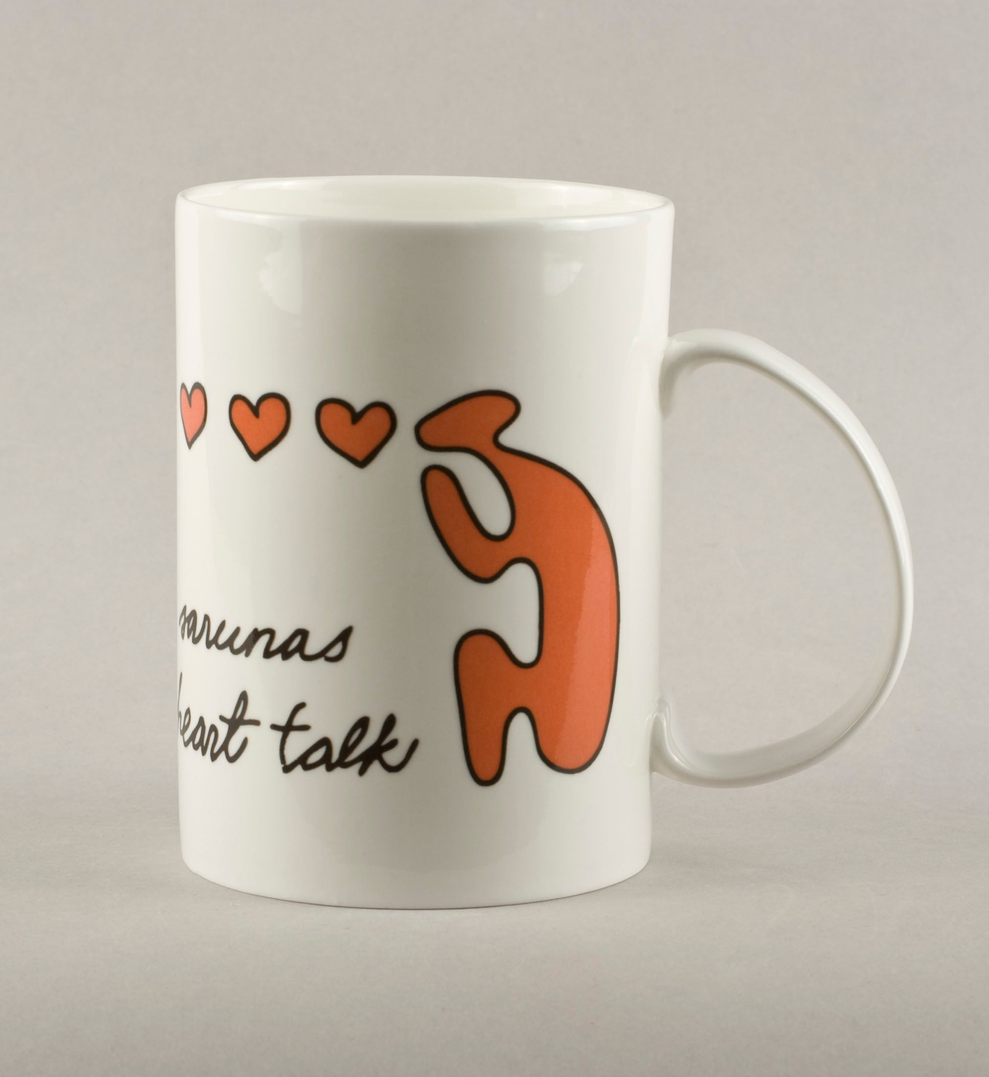 Heart-to-heart talk. Large Mug