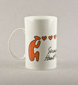 Heart-to-heart talk. Medium Mug