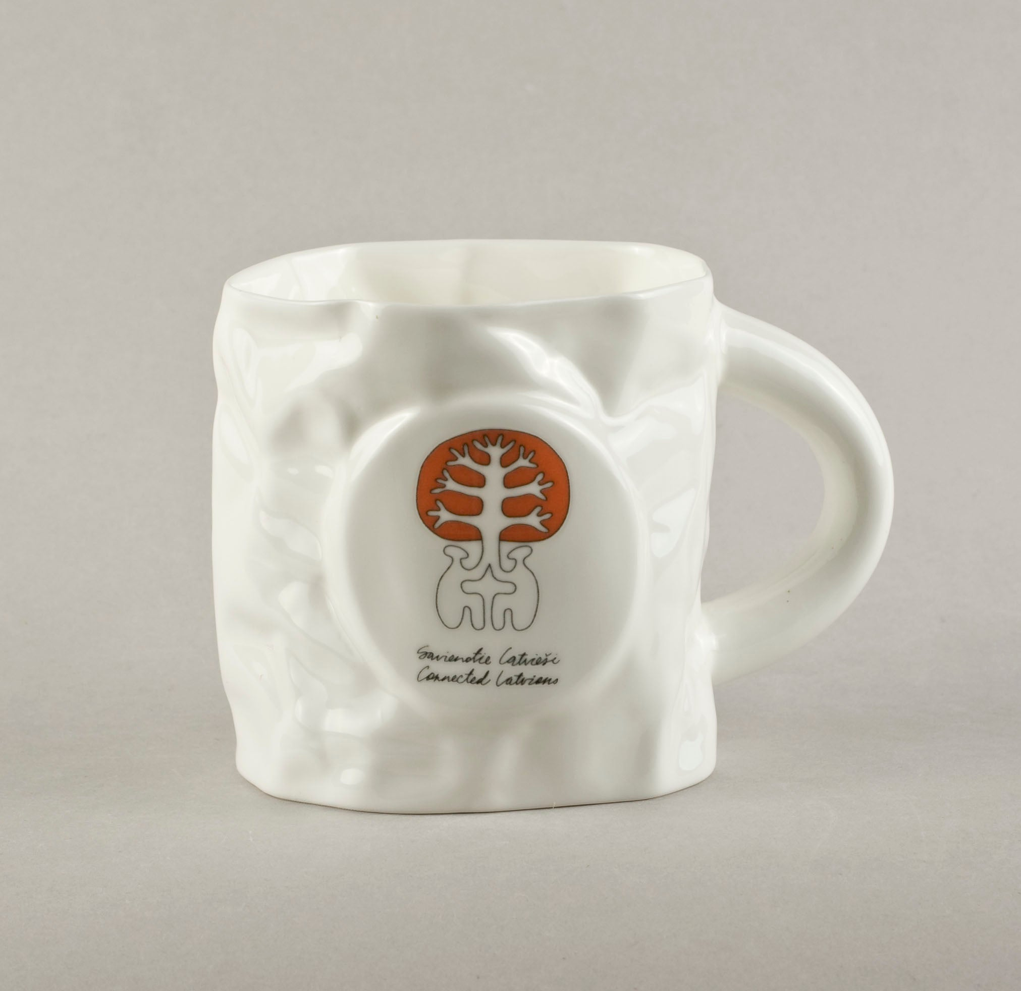 Connected Latvians. Crumpled Tea Mug