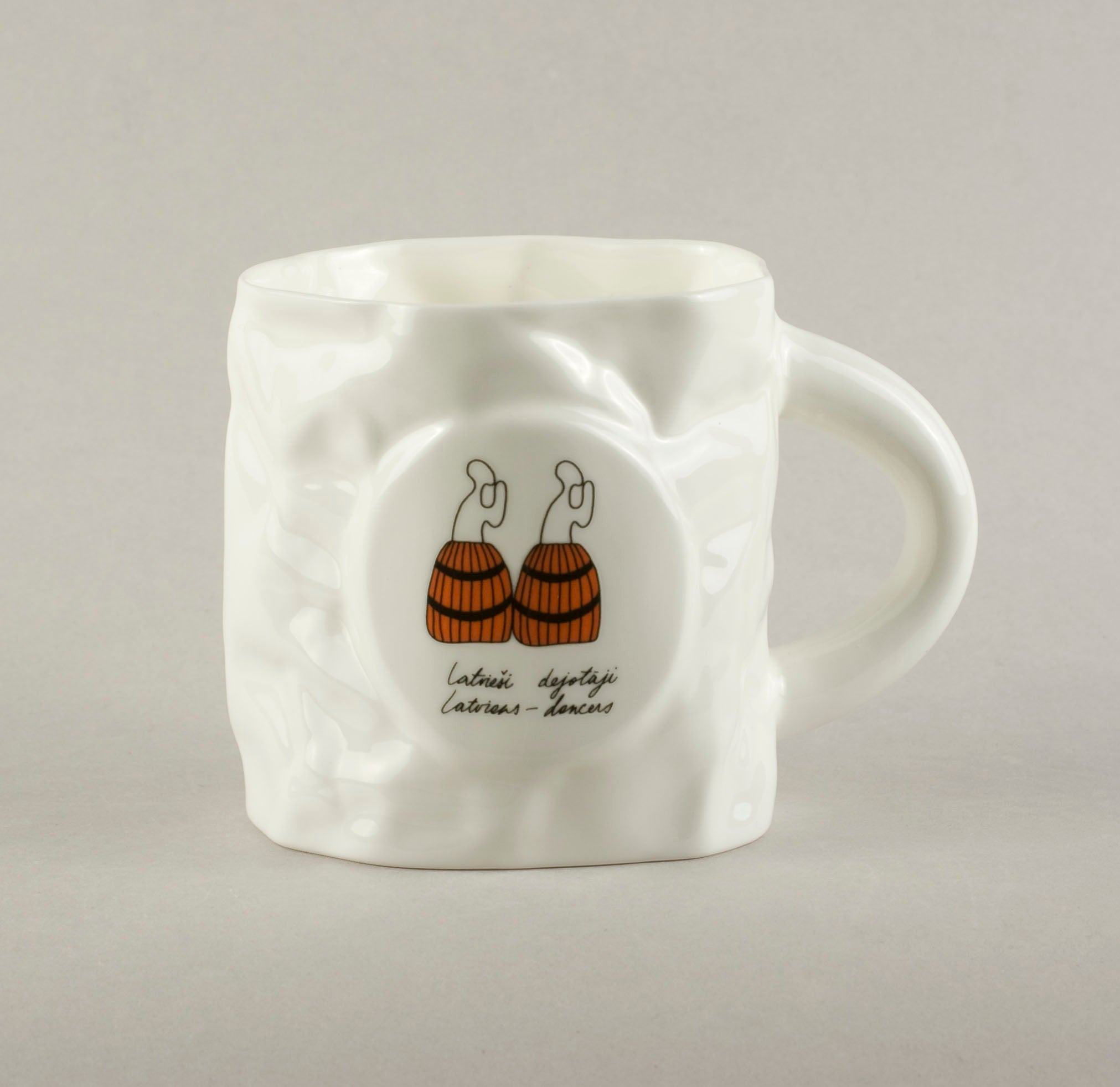 Latvians dancers. Crumpled Tea Mug