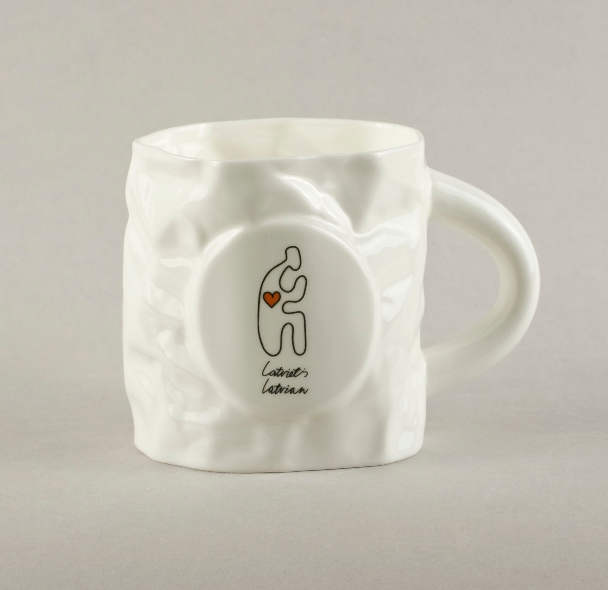 Latvian. Crumpled Tea Mug