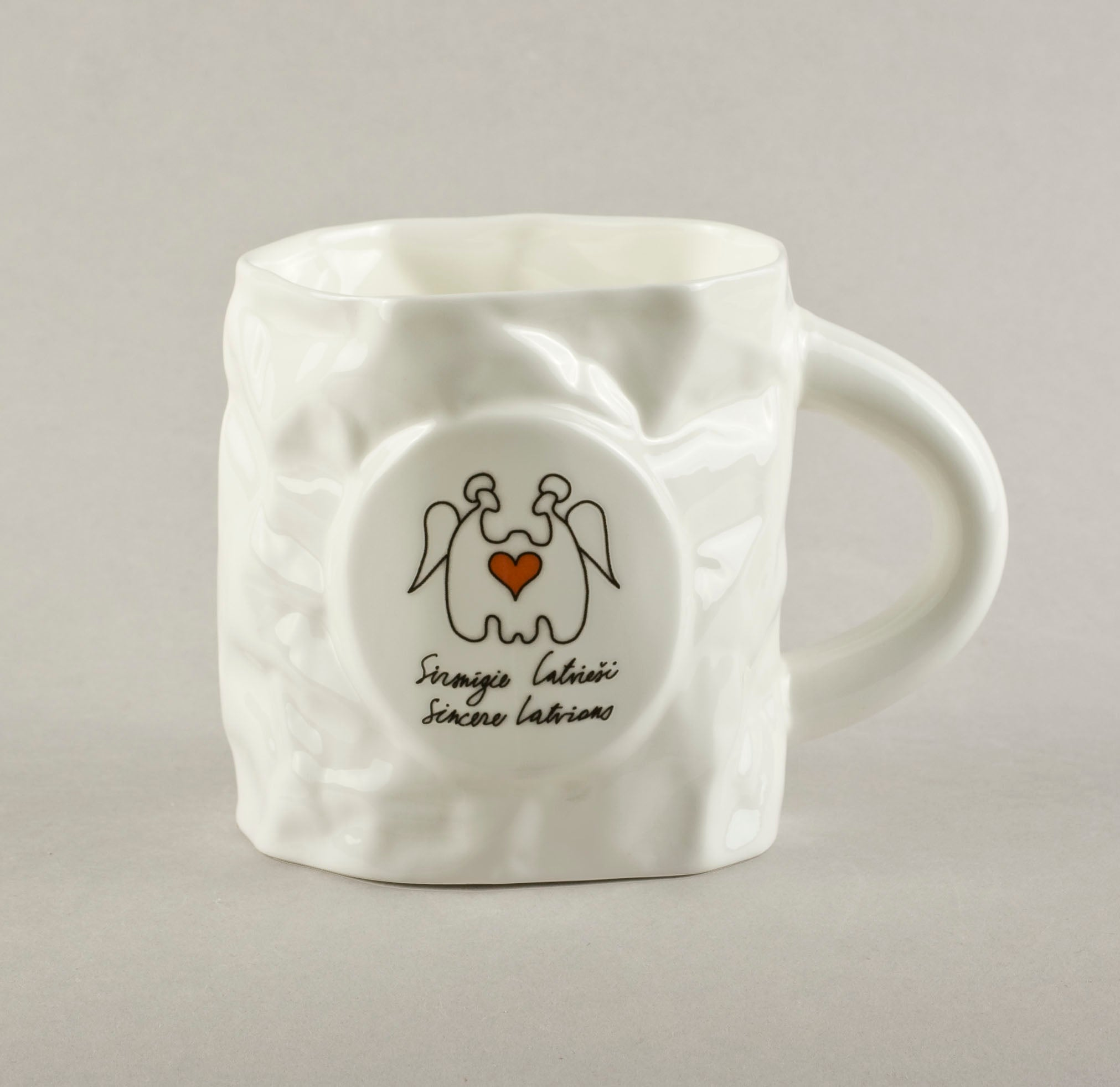 Sincere Latvians. Crumpled Tea Mug