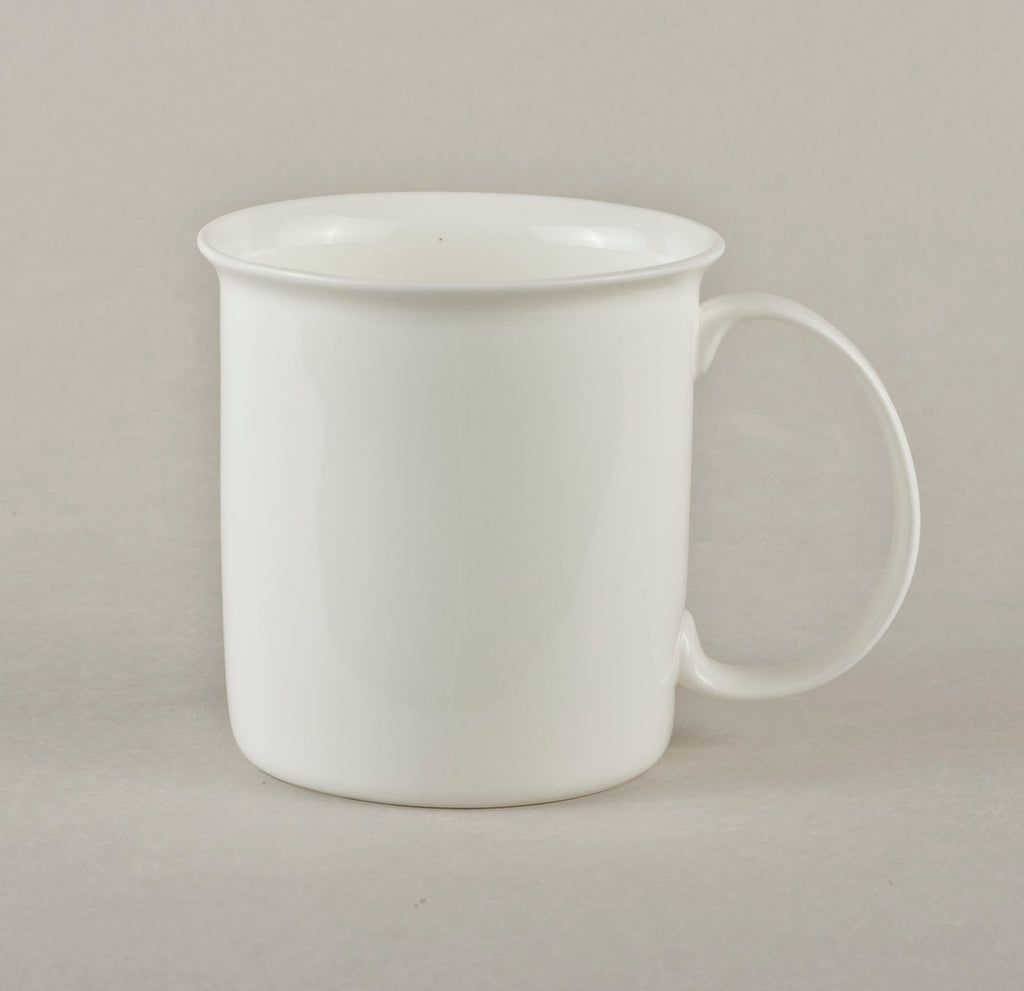 Porcelain Cylinder with Edge Mug