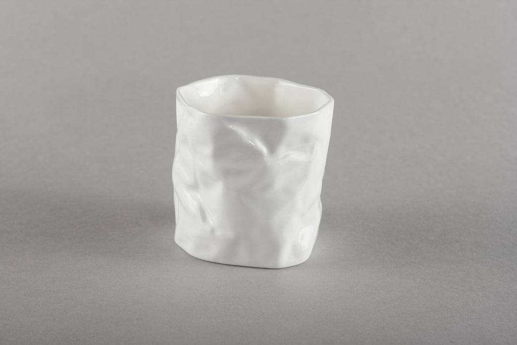 Porcelain Crumpled Cup