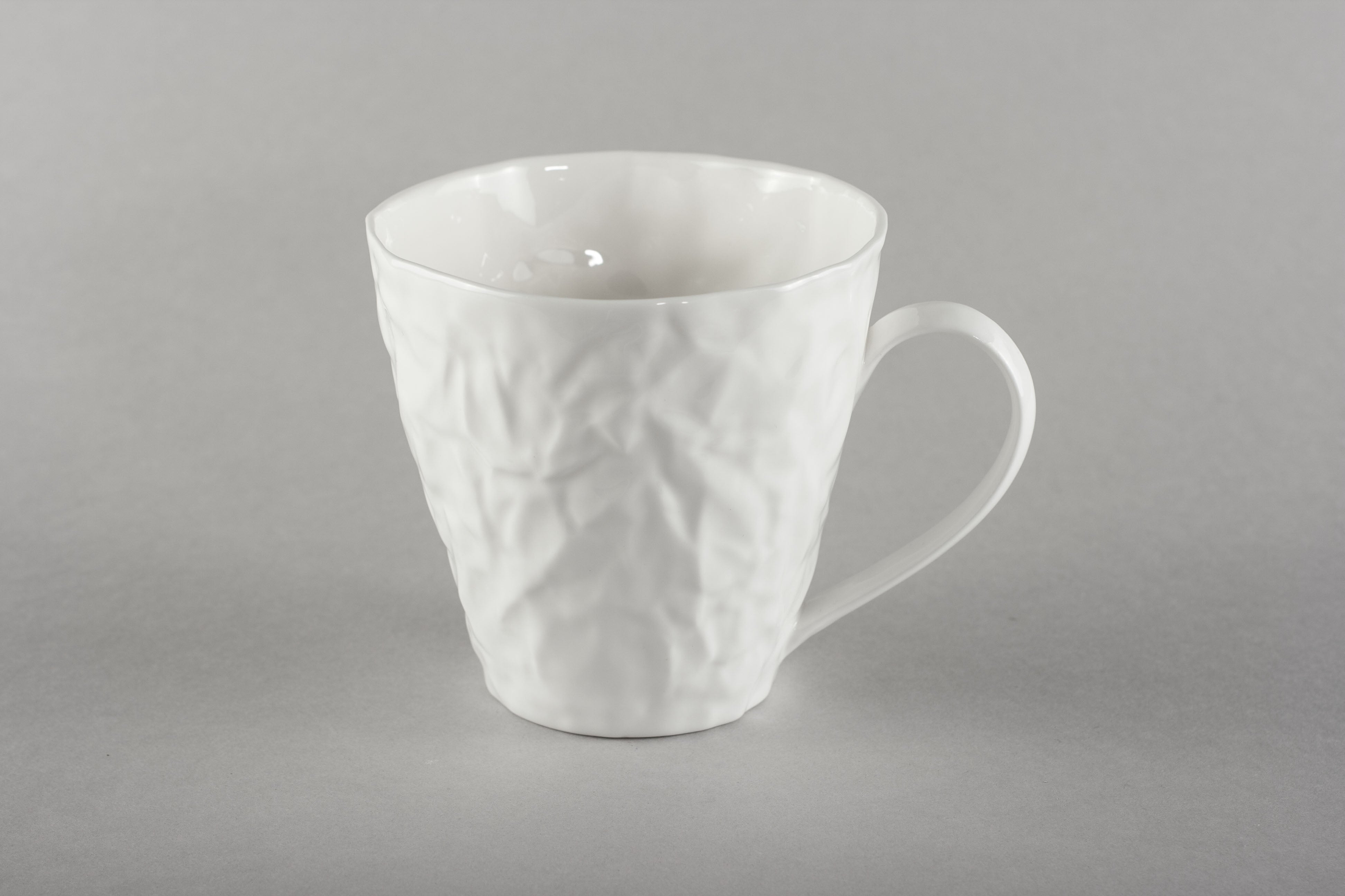 Porcelain Crumpled Tea Co Mug