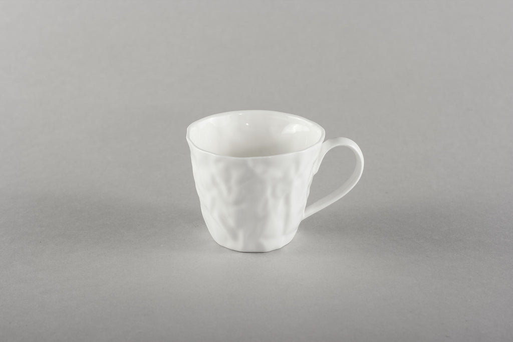 Porcelain Crumpled Espresso Co Mug