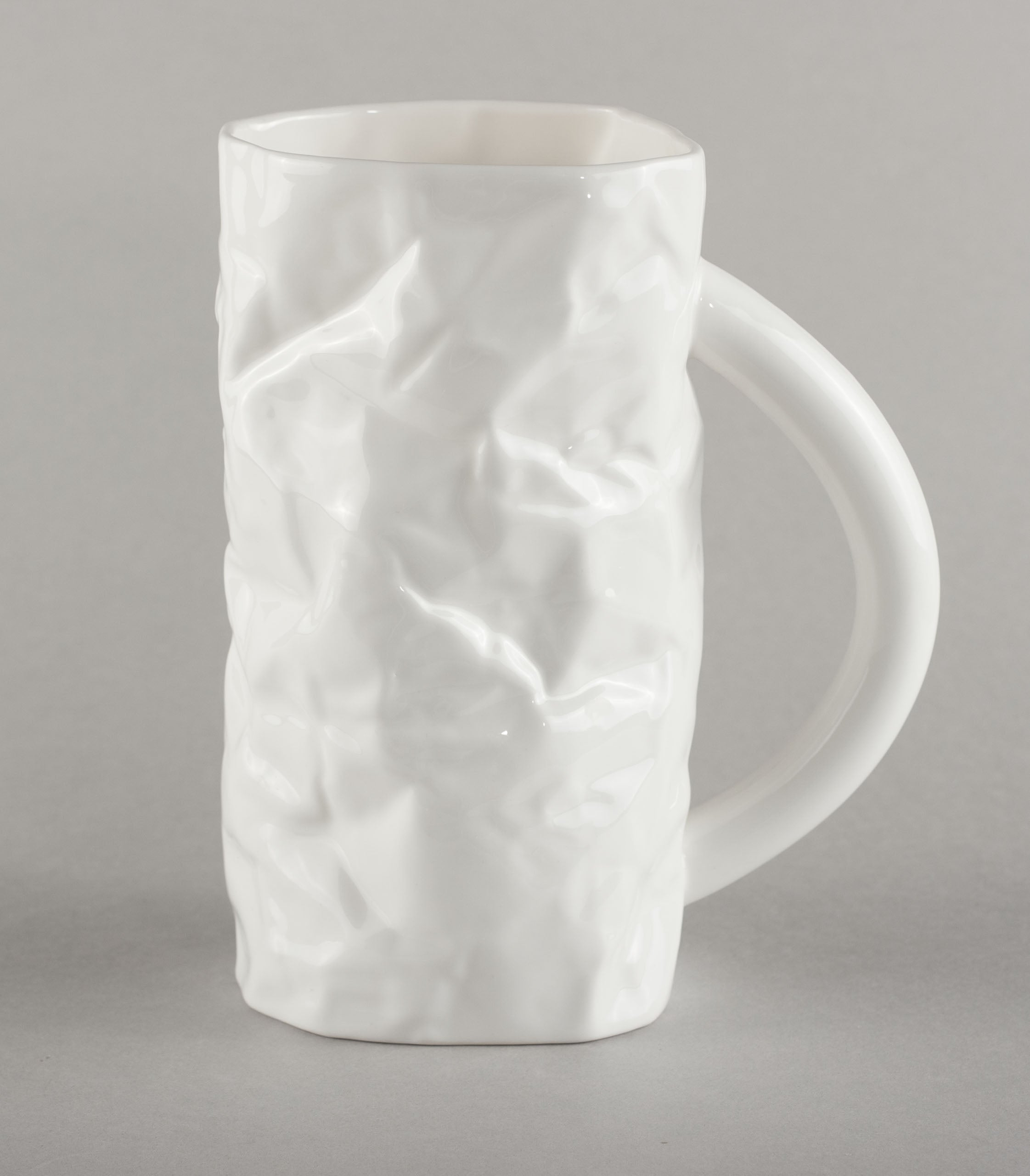 Porcelain Crumpled Beer Mug