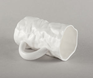 "Porcelain Crumpled ""Kiss"" Mug"