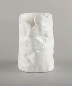 Porcelain Vase Latvija / Crumpled-Knitted