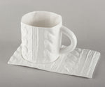Porcelain Knitted Tea Mug Base (mug not included)