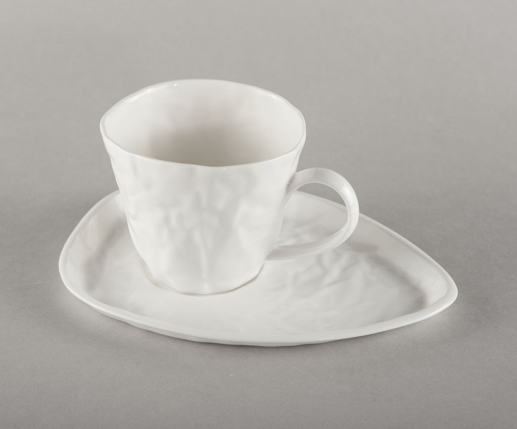 Porcelain Crumpled Espresso Co Mug Base (mug not included)