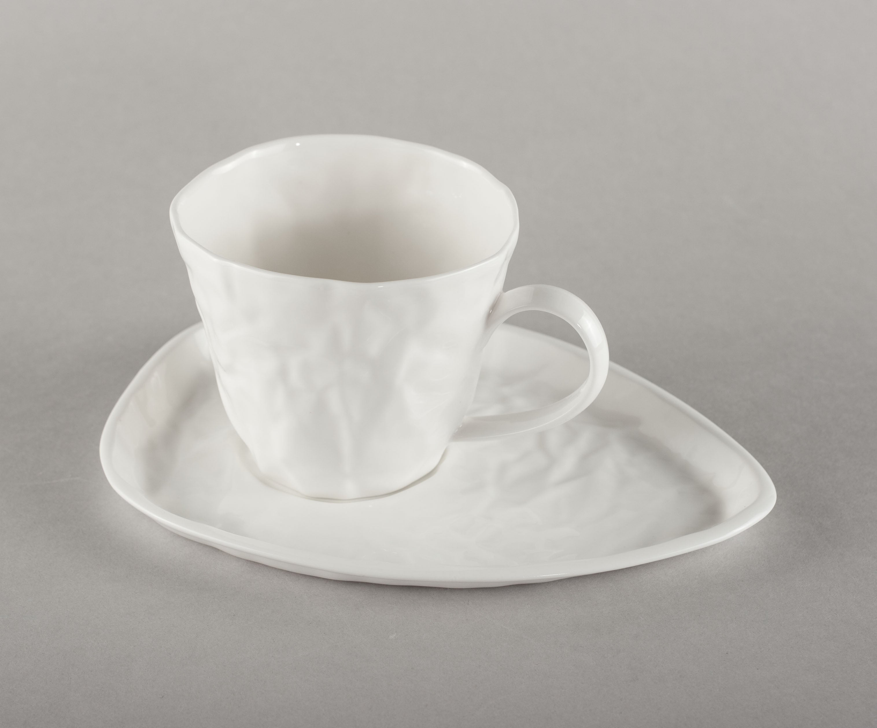 Porcelain Crumpled Coffee Co Mug Base (mug not included)