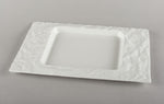 Porcelain Crumpled Lunch Plate/Square