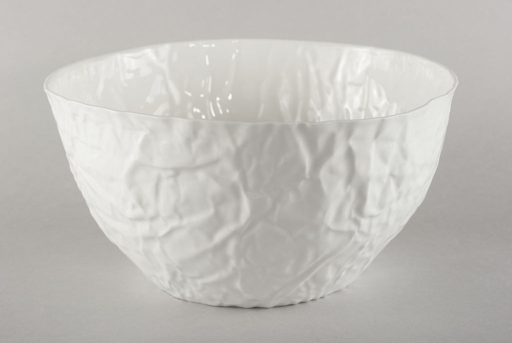 Porcelain Crumpled Bowl XXL