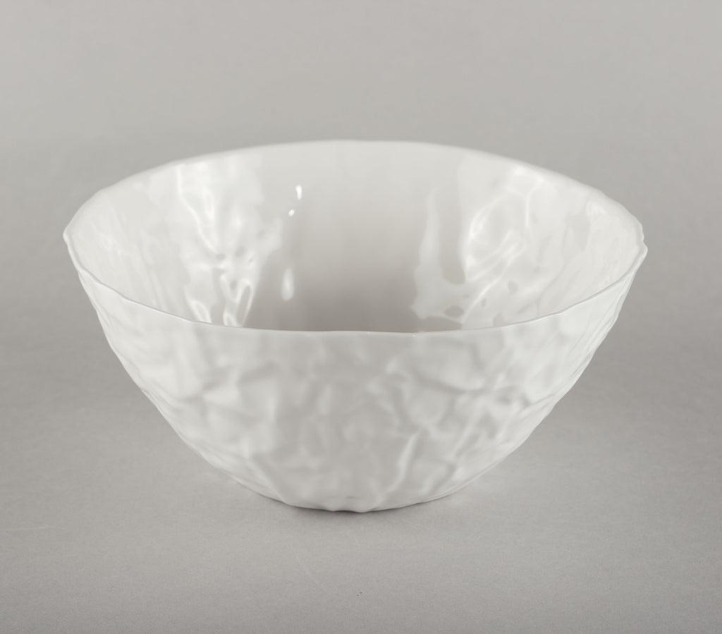 Porcelain Crumpled Bowl L