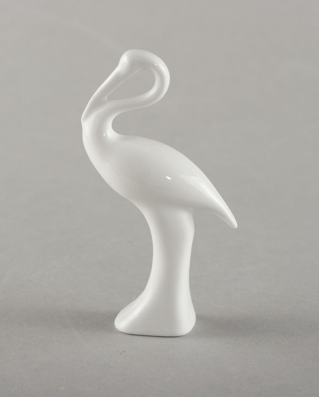 Porcelain Figure Stork (white)