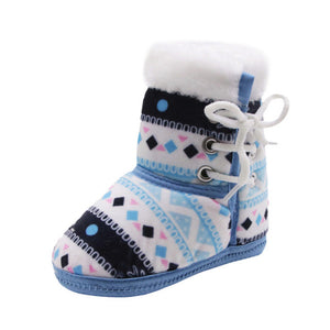 Winter Warm Baby Soft Soled Crib Shoes