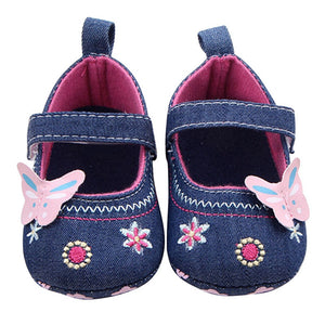 Baby Shoes Girls First Walker Butterfly Soft Sole Toddler Prewalker Shoes