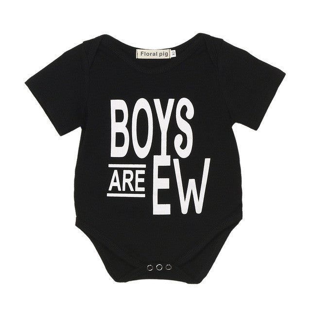 Summer Baby Rompers Clothes Newborn Baby Boy Girls Rompers Short Sleeve