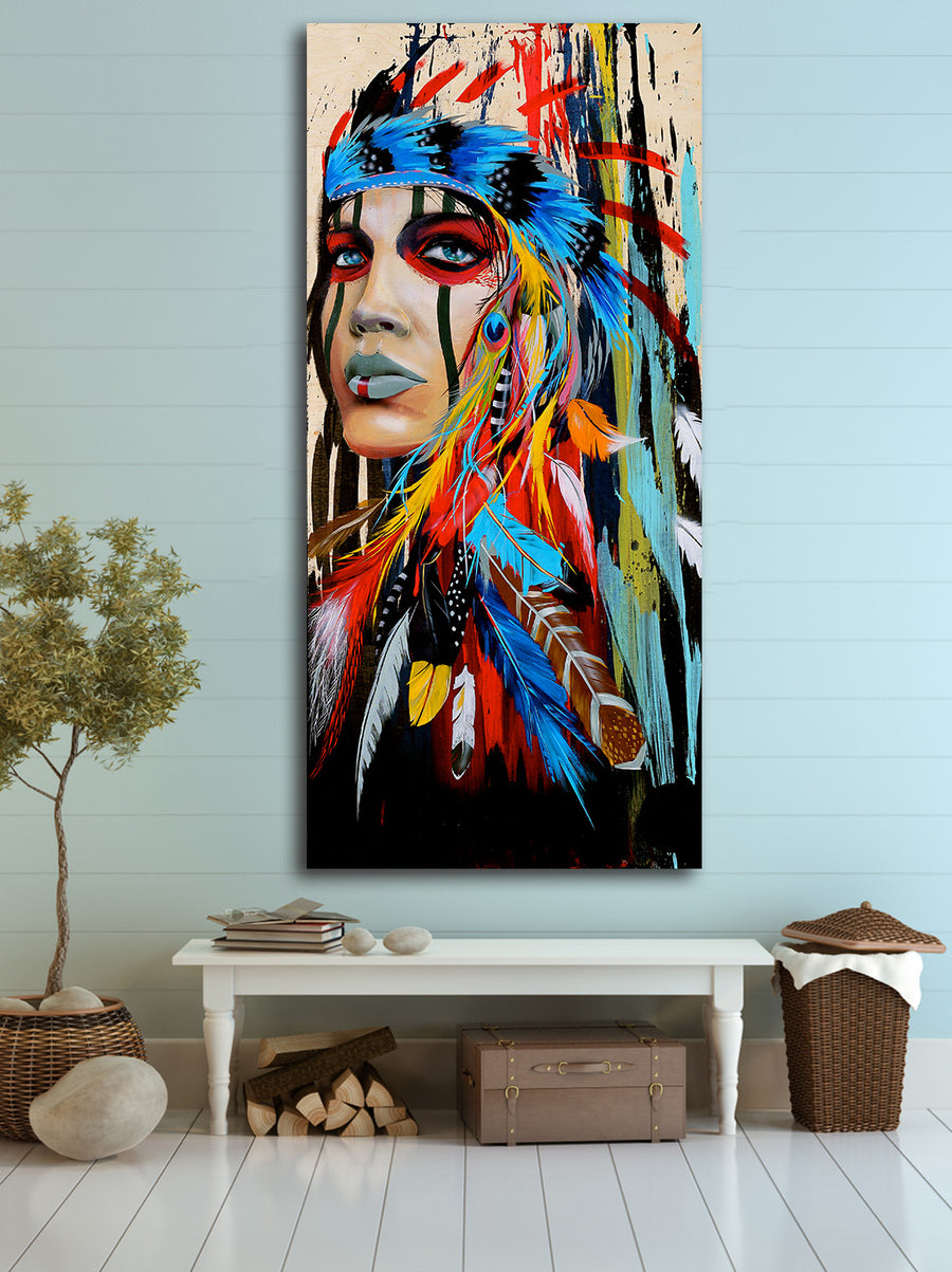 Native American Girl oil Painting