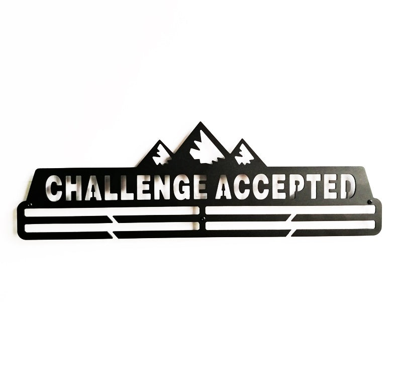 Challenge Accepted Medal Hanger Display